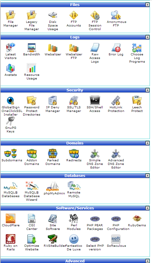 GreenGeeks Web Hosting cPanel